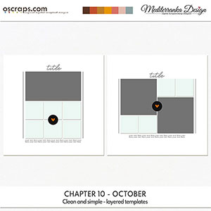 Chapter 10 - October (Clean and simple - layered templates)