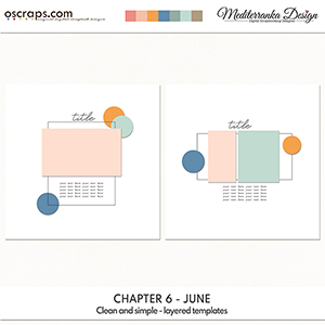 Chapter 6 - June (Clean and simple - layered templates)