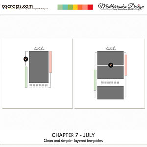 Chapter 7 - July (Clean and simple - layered templates)