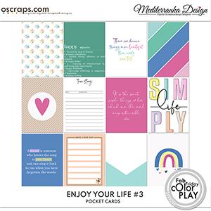Enjoy your life No 3 (Pocket cards)