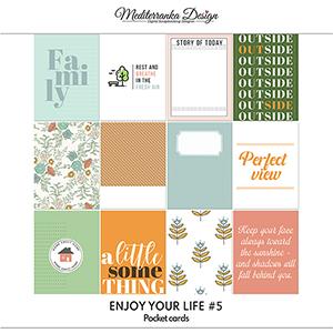 Enjoy your life No 5 (Pocket cards)