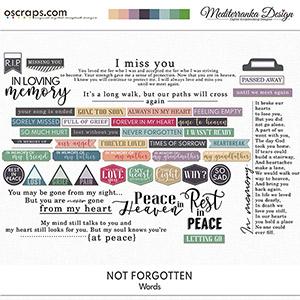 Not forgotten (Words)