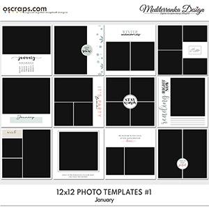 January (Photo templates 12x12)