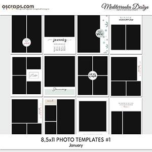 January (Photo templates 8.5x11)