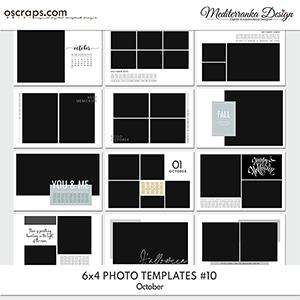 October (Photo templates 6x4)