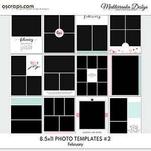 February (Photo templates 8.5x11)