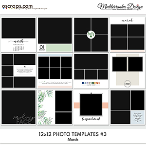 March (Photo templates 12x12)