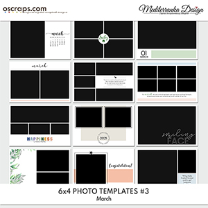 March (Photo templates 6x4)