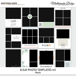March (Photo templates 8.5x11)