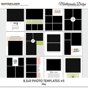 May (Photo templates 8.5x11)