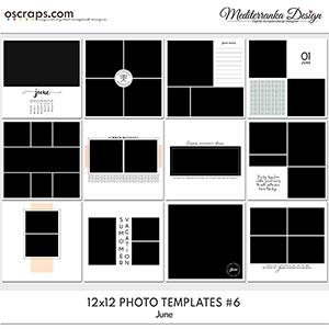 June (Photo templates 12x12)