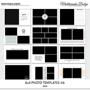 June (Photo templates 6x4)