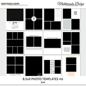 June (Photo templates 8.5x11)