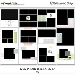 July (Photo templates 12x12)