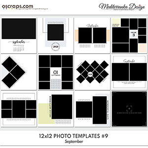 September (Photo templates 12x12)