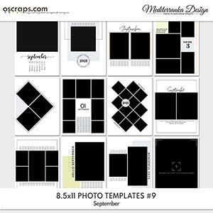 September (Photo templates 8.5x11)