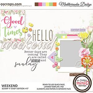 Scrap it easy: Weekend (Mini kit)