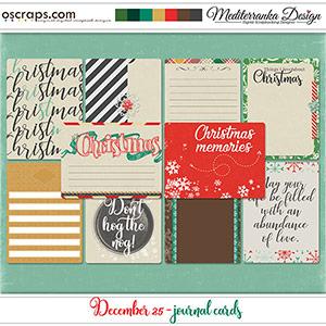 December 25 (Journal cards)
