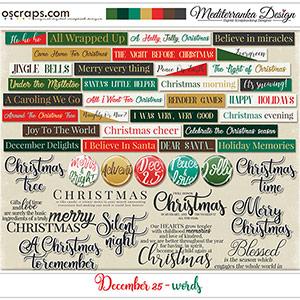 December 25 (Words)