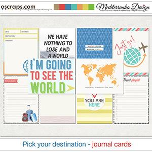Pick your destination (Journal cards)