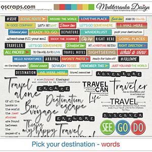 Pick your destination (Words)