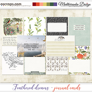 Feathered dreams (Journal cards)