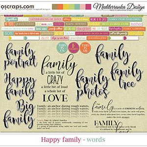 Happy Family (Words)