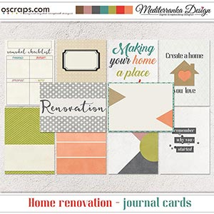 Home renovation (Journal cards)
