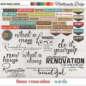 Home renovation (Words)