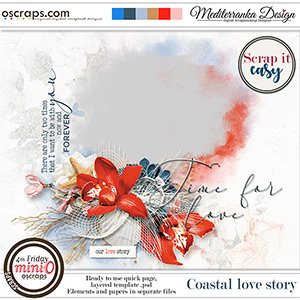 Scrap it easy: Coastal love story (Mini kit)