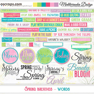 Spring Breathes (Words)