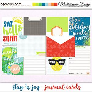 Stay 'n joy (Journal cards)