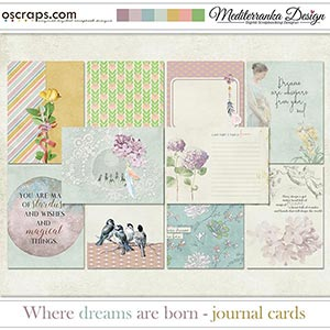 Where dreams are born (Journal cards)