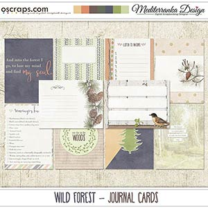 Wild forest (Journal cards)