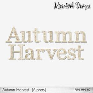 Autumn Harvest Alphas