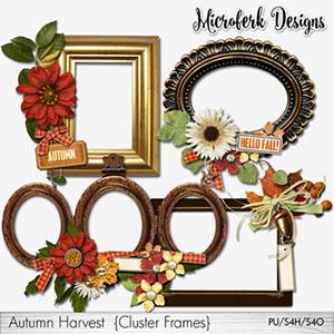 Autumn Harvest Cluster Frames