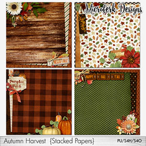 Autumn Harvest Stacked Papers