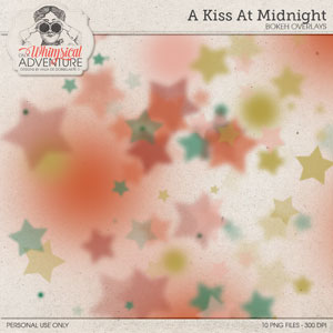 A Kiss At Midnight Bokeh Overlays