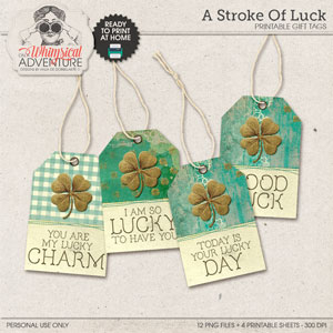 A Stroke Of Luck Gift Tags