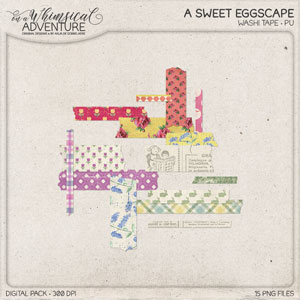 A Sweet Eggscape Washi Tape