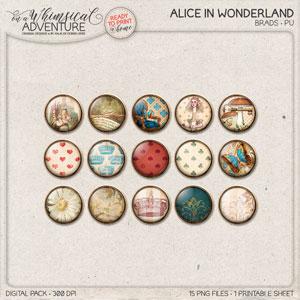 Alice In Wonderland Brads