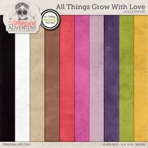 All Things Grow With Love Solid Papers