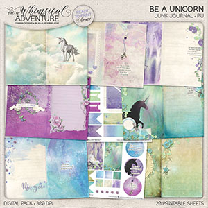 Be A Unicorn Junk Journal Kit