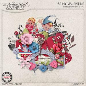 Be My Valentine Embellishments