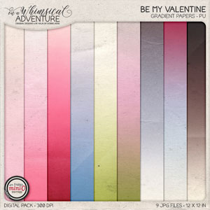 Be My Valentine Gradient Papers