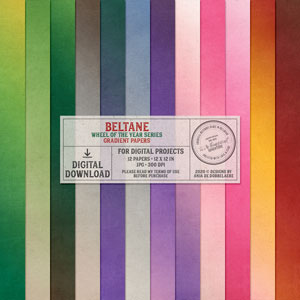 Wheel Of The Year Beltane Gradient Papers