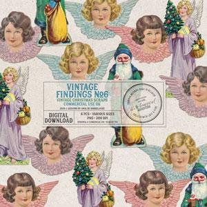 CU Vintage Findings No6 Christmas Scraps