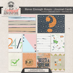 Never Enough Hours Journal Cards