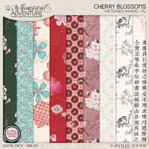 Cherry Blossoms Patterned Papers