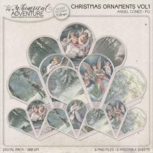 Christmas Ornaments Vol1 Angel Cone